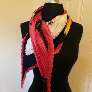 Authentic Escada Silk Pleated Scarf